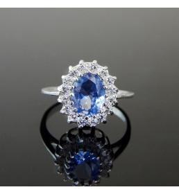 Srebrny pierścionek z cyrkoniami (P 299)