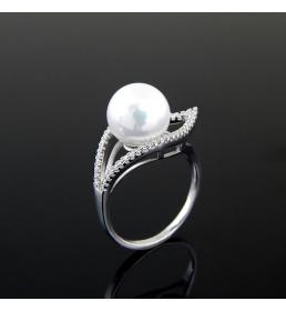 Srebrny pierścionek z perłą