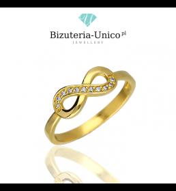 Złoty pierścionek - nieskończoność (P 1897)