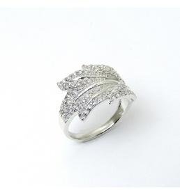 Srebrny pierścionek z cyrkoniami (P-1601)