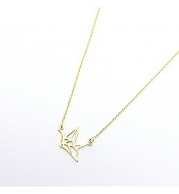 Srebrny naszyjnik - Żuraw (celebrytka)