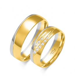 Złote obrączki wzór OE-355