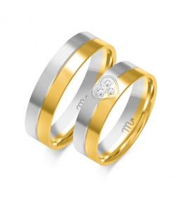 Złote obrączki wzór OE-353