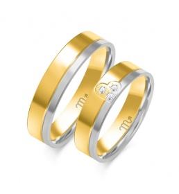 Złote obrączki wzór OE-352