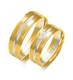 Złote obrączki wzór OE-351