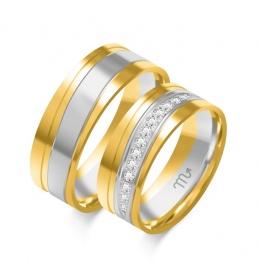Złote obrączki wzór OE-335