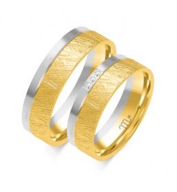 Złote obrączki wzór OE-327