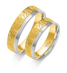 Złote obrączki wzór OE-289