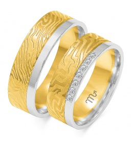 Złote obrączki wzór OE-286