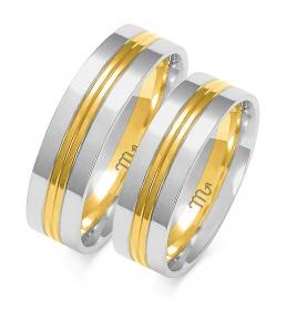 Złote obrączki wzór OE-274