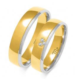 Złote obrączki wzór OE-267