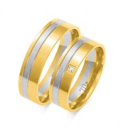Złote obrączki wzór OE-260