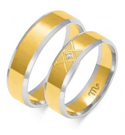Złote obrączki wzór OE-227