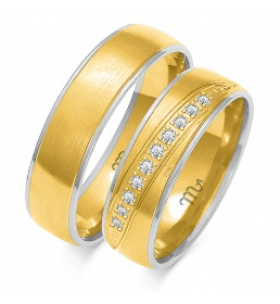 Złote obrączki wzór OE-162