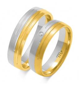 Złote obrączki wzór OE-157