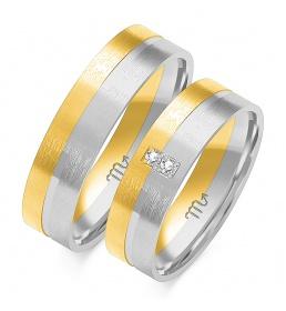 Złote obrączki wzór OE-149