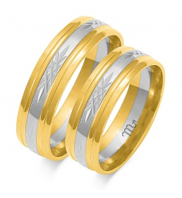 Złote obrączki wzór OE-147