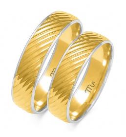 Złote obrączki wzór OE-143