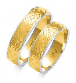 Złote obrączki wzór OE-142