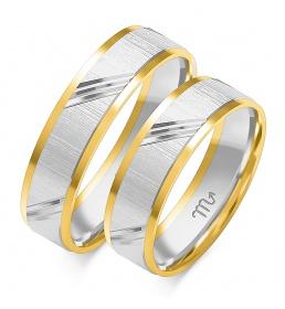 Złote obrączki wzór OE-140