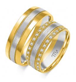 Złote obrączki wzór OE-132