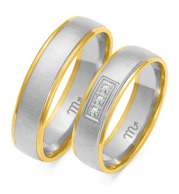 Złote obrączki wzór OE-103