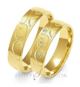 Złote obrączki wzór A-128