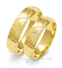 Złote obrączki wzór A-125