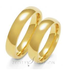 Złote obrączki wzór A-110