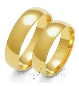 Złote obrączki wzór A-107
