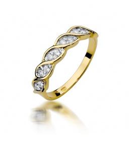 Złoty pierścionek z brylantami 0,20ct  (W-349)