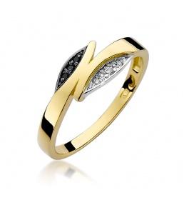 Złoty pierścionek z brylantami 0,05ct (W-107)