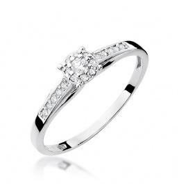 Złoty pierścionek z brylantami 0,13ct (W-34)