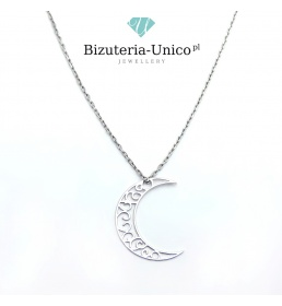 Srebrny naszyjnik - księżyc (celebrytka)