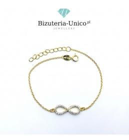 Srebrna bransoletka - Nieskończoność (celebrytka)