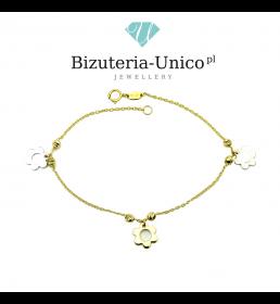 Złota bransoletka - kwiatki