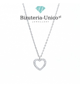 Srebrny naszyjnik - serce (celebrytka)