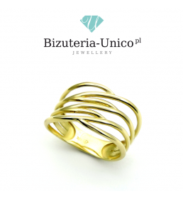 Złoty pierścionek pr. 333 (PI 3220)