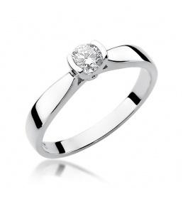 Złoty pierścionek z brylantem 0,25ct (W-223b)