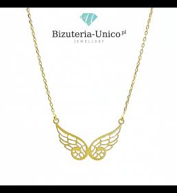 Srebrny naszyjnik - celebrytka  skrzydła