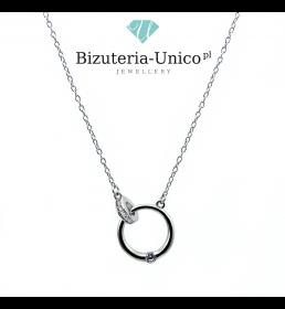 Srebrny naszyjnik - kółko i pierścionek