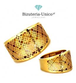 Złoty pierścionek pr. 333 (PI 3732A)
