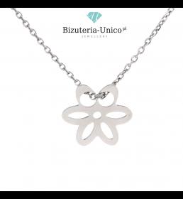 Srebrny naszyjnik - kwiatek
