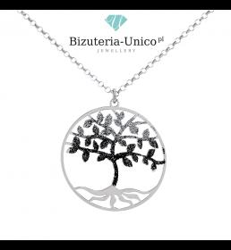 Srebrny naszyjnik - drzewko