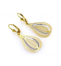 Eleganckie wiszące kolczyki złote 2962