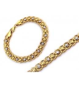Dwukolorowa złota bransoletka dla kobiety 3489