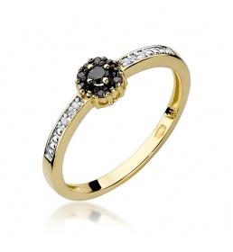 Złoty pierścionek z brylantami 0,09ct (W-91)