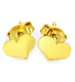 Złote kolczyki celebrytki serca
