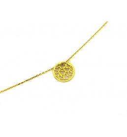 Złoty naszyjnik kółko z serduszkami