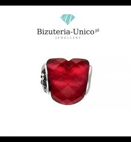 Srebrny koralik modułowy romantyczne serce